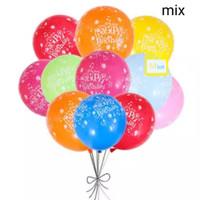 balon latex happy birthday isi 100 pcs