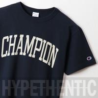 Champion Campus Logo T-shirt Navy Blue Original / Kaos Biru / Tshirt