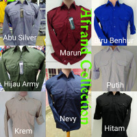 seragam baju kemeja kerja pangkat panjang nevy ,baju tran tv ,baju pdh - Nevy, M