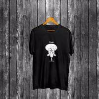 ErooDistro Kaos Happy Squidward Distro T-shirt Baju Pria Cotton Combed