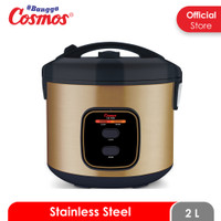 Cosmos Rice Cooker Stainless Steel CRJ-9308 - 2 L