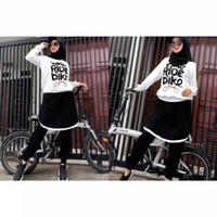 Setelan olahraga muslimah baju setelan wanita bike / Sepeda Terlaris