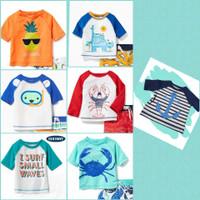 Baju Renang Anak Bayi Balita Laki laki - Atasan Rush Guard Old N@vy 2