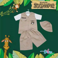 READY JKT BAJU Costum ADVENTURE TAMAN SAFARI PUNCAK SINGAPOR ZOO ULAN