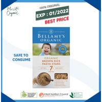 Beras Coklat Bayi Bellamys Organic Brown Rice Pasta Star 200g