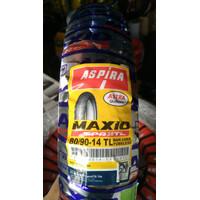 Ban aspira maxio SPR 38TL Uk 80 / 90 -14 TUBLESS untuk matik Ban honda