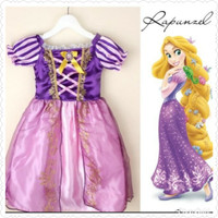 Dress anak princess rapunzel baju costume cost play