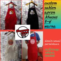 apron barista custom / celemek masak / fullcolor