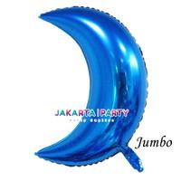 Balon Foil Bulan Sabit Biru / Balon Foil Bulan / Moon Foil Balloon