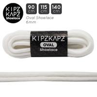 KipzKapz 90cm 115cm 140cm Oval Shoelace Tali Sepatu Putih / White