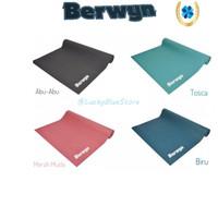 Berwyn Matras Olahraga Yoga Mat Single Layer Pvc 173 x 61 x 0.4 cm - Biru
