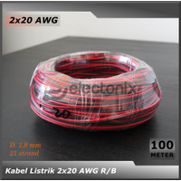 [High Quality] Kabel 2 x 20 AWG [100 Meter]