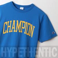 Champion Campus Logo T-shirt Blue Original / Kaos Biru / Tshirt / Baju