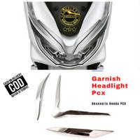 aksesoris Honda PCX 150/Garnish Headlight Hiasan Lampu depan /Alis Pcx