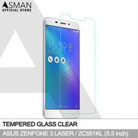 Asman Premium Tempered Glass for Asus Zenfone 3 Laser ZC551KL - Clear