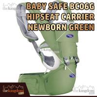 Baby Safe BC06G Hipseat Carrier Newborn Green Gendongan Multifungsi