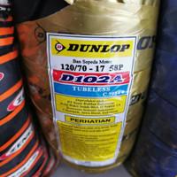 DUNLOP 120/70-17 S102 TUBELES BAN BELAKANG MOTOR VXION VELG RING17