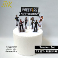 TS 257 - Hiasan Tusukan Kue Ulang Tahun Cake Topper Free Fire