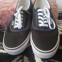 Sepatu Vans Authentic Black White Classic - 100% Original ukuran 43