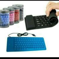 Keyboard Fleksibel USB Flexible Laptop Mudah Dibawa Tas Easy Simple