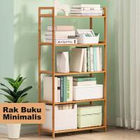 Mainland Rak Buku Kayu Minimalis 5 Tingkat Multifungsi HRK203