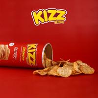 Kizz Tempe Crunchy Keripik Tempe Sagu Sehat dan Enak Non MSG - Spicy