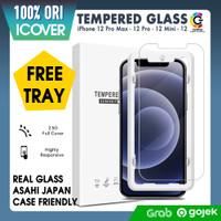 Original iCover Tempered Glass iPhone 12 Pro Max 12 12 Mini Anti Gores - 2.5D, iPhone 12 Mini
