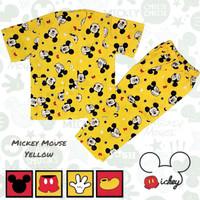 Piyama Anak Katun Mickey Mouse Yellow Baju Tidur Anak