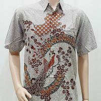 Kemeja Batik Pria Jumbo 4L-5L Baju Hem Pria Big Size Ukuran Besar INR