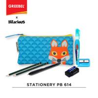 GREEBEL Paket Stationery Pencil Bag / Tempat Pensil Set 614