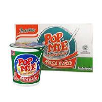 Pop Mie Rasa Ayam,Kari Ayam, Bakso 75 gram ( Kartonan )