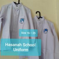 SERAGAM SEKOLAH AL AZHAR BAJU KOKO SMP / SMA SIZE 16 - 25 - KOKO SMA, 16