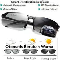 Kacamata Anti silau Siang dan malam Photocromic Polarized Sunglasses - gun