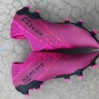 Sepatu Bola Adidas Nemeziz 19.1 FG - Shock Pink