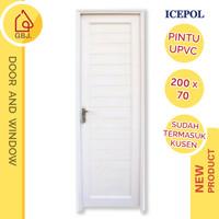 PINTU KAMAR MANDI UPVC 200 X 70 + HANDLE PINTU + KUSEN ICEPOL / PINTU