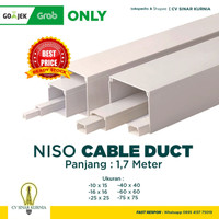 Ducting / Kabel Duct / Pelindung kabel / Wiring Cable Duct PVC - 10mm x 15mm