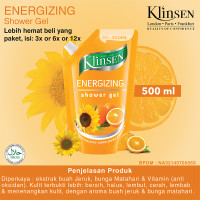 KLINSEN SHOWER GEL - ENERGIZING 500ml - Sabun Mandi Cair