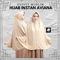 Hijab Jilbab Kerudung Instan Jumbo XXL Dewasa Syar'i Warna Polos - Avi