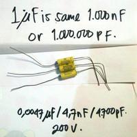 siderealkaps auricap 0,0047uf / 4,7nF / 4700pF 200V - 1 pcs