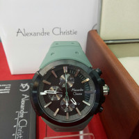 Jam Tangan Analog Pria Alexandre Christie AC 6566 MC Stainless Rubber