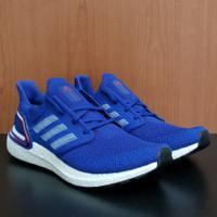 Sepatu Adidas Ultraboost 20 Original BNIB running ultra boost - blue
