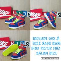 sepatu anak Nike Jordan Red blue green Stabilo size 24-35 - 24