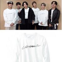Kaos T-shirt BTS LIFE GOES ON Lengan Panjang Free Foto