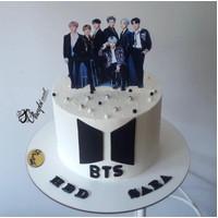 BTS Group Kpop Topper Cake Birthday / Hiasan Kue Ulang Tahun