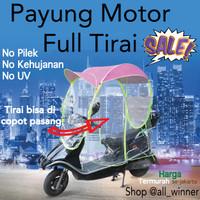 Payung Motor FULL TIRAI KANOPI MOTOR FULL COVER Anti Hujan Anti Panas