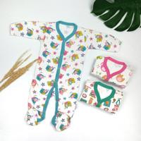 Baju Tidur Anak Bayi Little Q Kaki Close Pakian Baby SNI Nyaman ISI 3