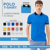 Kaos polo shirt pria / kaos seragam kerah kombinasi m l xl xxl