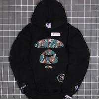 Hodie sweater pria wanita Bape camo logo hitam terbaru