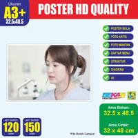 Cetak Poster A4+ Art Paper 120 - 150 Gram