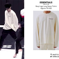Kaos T-shirt BTS Lengan Panjang Essentials Fear Of God